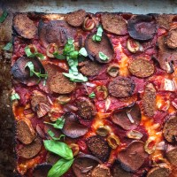 Vegan Detroit Style Pizza