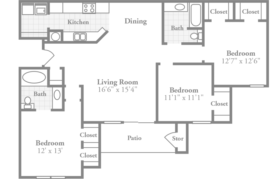 hight resolution of room dimensions