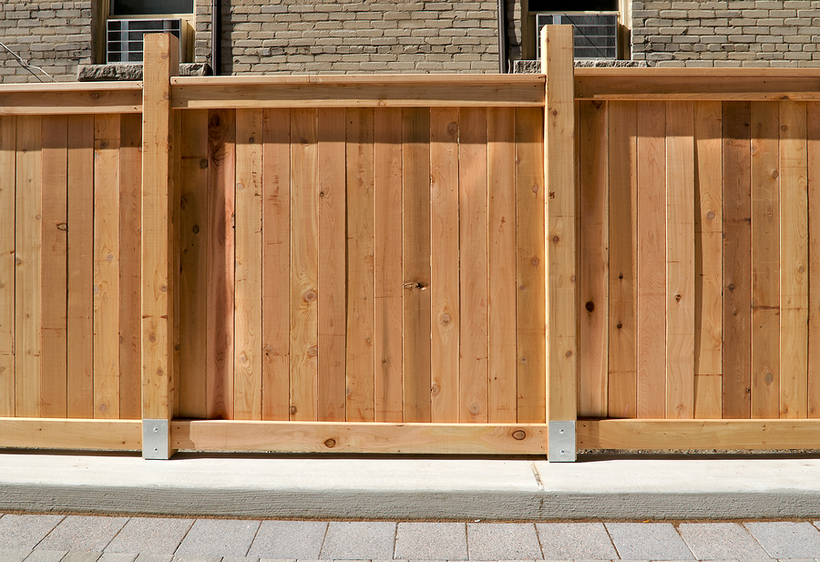 traditional wood fencing installation