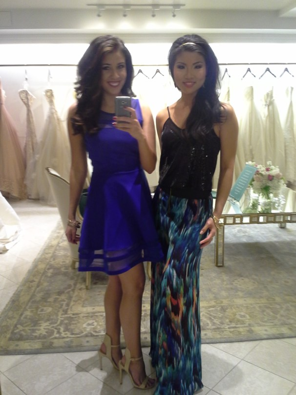 Along with the other guests, we couldn't resist getting a photo in the beautiful floor to ceiling mirror. Pictured with Christine Tang