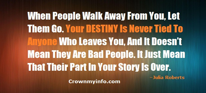 Your Destiny Is Never Tied To Anyone.