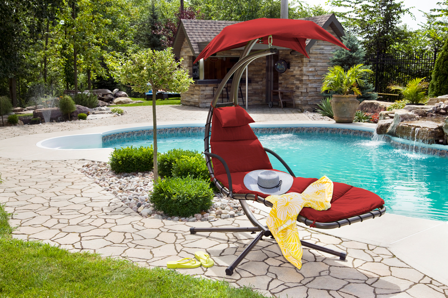 outdoor dream chair osaki os 3d cyber pro massage crown spas pools winnipeg true to it s name the gives you feeling of floating on a cloud right in comfort your own backyard