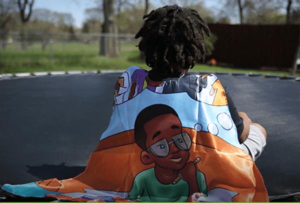 Black Boy Superhero Cape