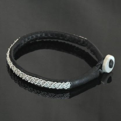 Pewter Thread Bracelet - Black