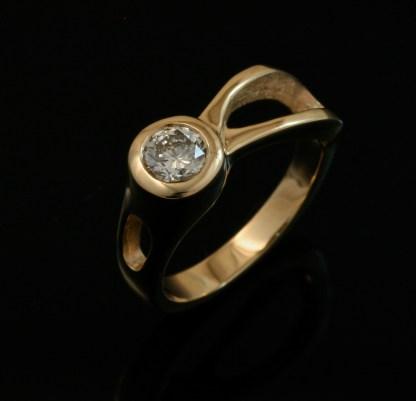 Two River Ring 14k Gold - Diamond
