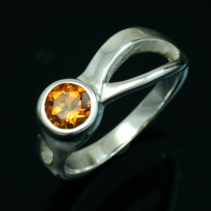 Citrine Two Rivers Ring. Crown Trout Jewelers