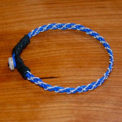 Mini Pewter Thread Bracelet (black ends)