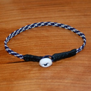 Mini Pewter Thread Bracelet (black ends)