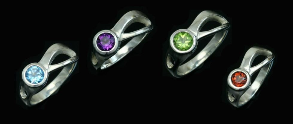 Gemstone Two Rivers Rings