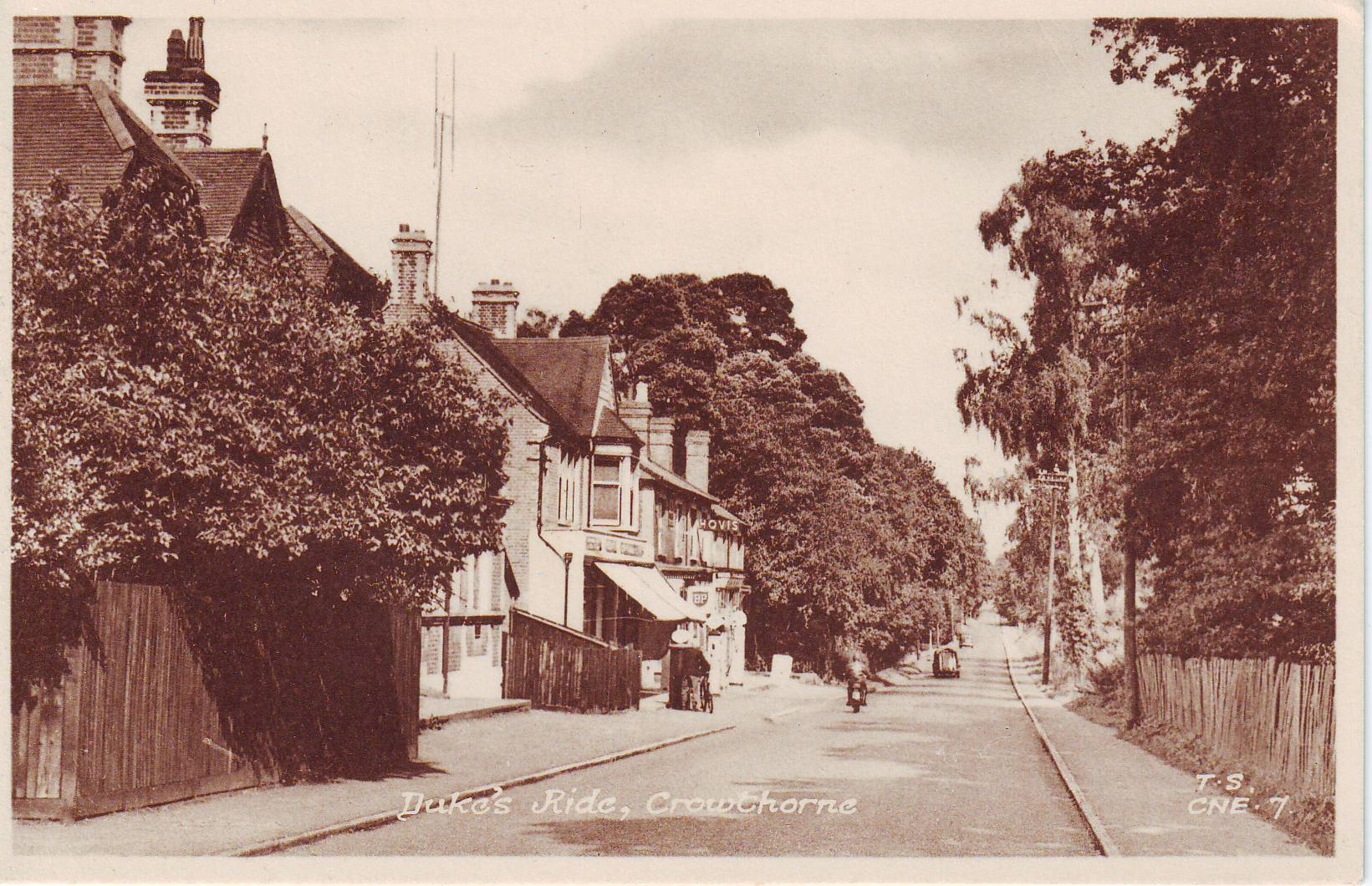 """Dukes Ride, Crowthorne"". Frith no. CNE7."