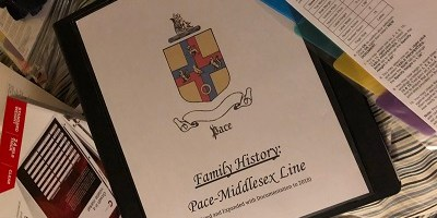 Jonathan Crow Pace Family History Binder