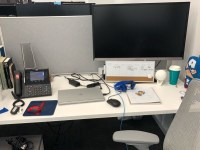 View of employee workstation