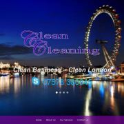 Clean Cleaning Services - London - Homepage Slider