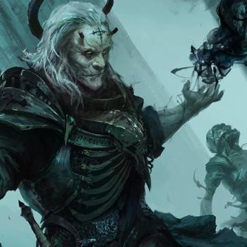 necromancer with dark power