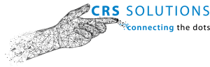 CRS SOlutions Logo with digital hand