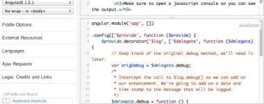Using Angular's $log provider