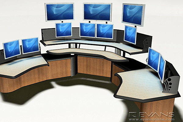 Console with multiple screens