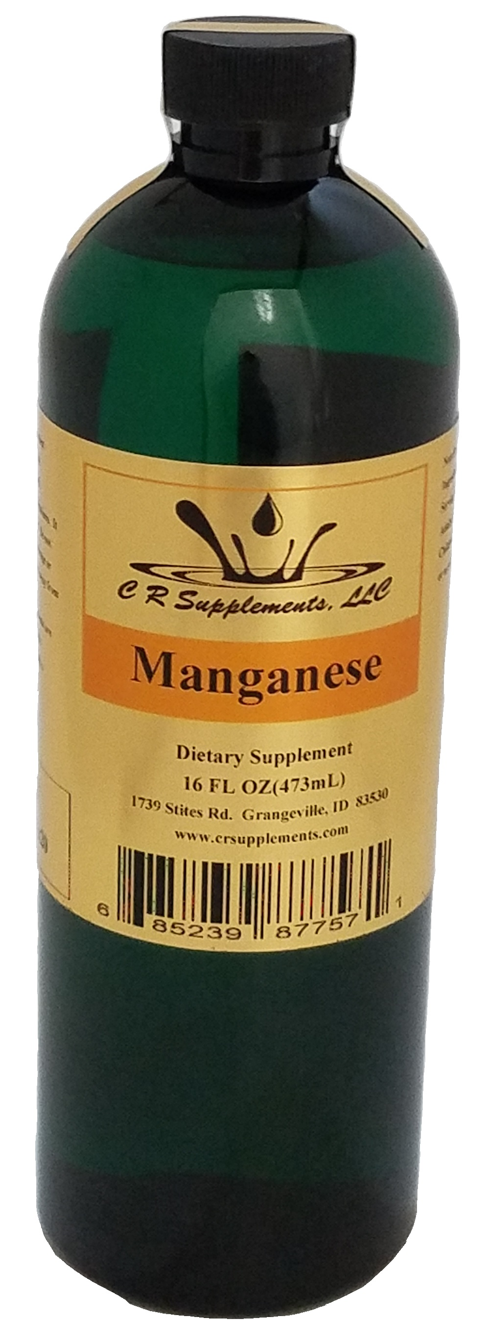 Manganese Dietary Supplement, Manganese, WaterOz Manganese Replacement, Liquid dietary supplement, Kosher of America approved, KOA approved, Pareve, vegan application, elemental mineral, flexible liquid mineral, maximum absorption