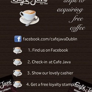 Cafe Java Free Coffee