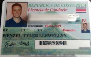 Costa Rican Driver's License