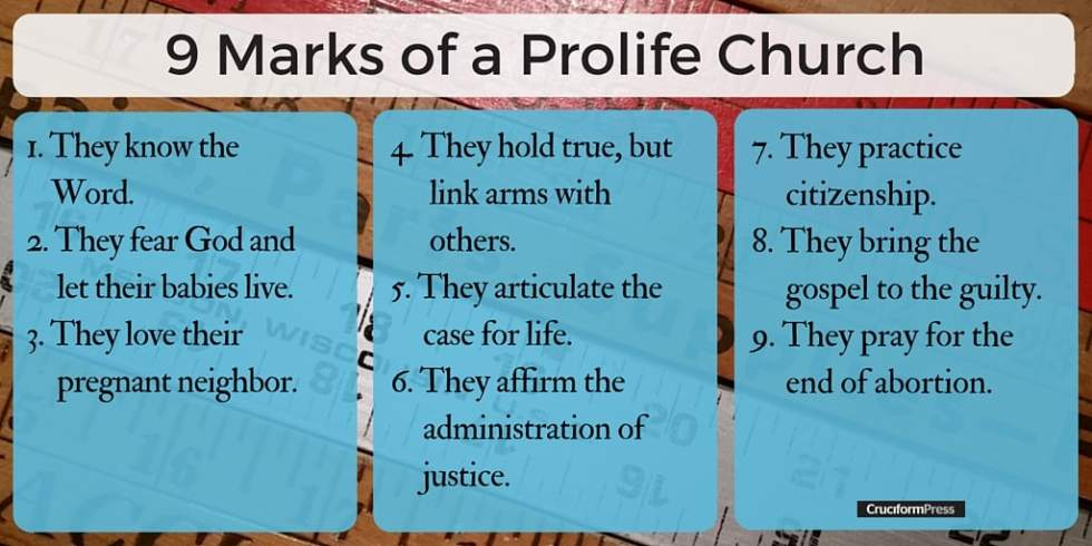 Nine Marks of a Prolife Church