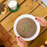 Receita. Sopa de Cogumelos Shiitake e cebolinho.