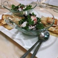 Salada de ceviche de peixe branco