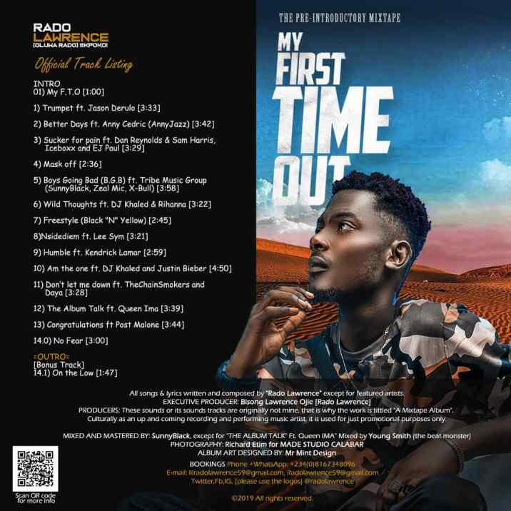 Rado Lawrence My First Time Out Tracklist