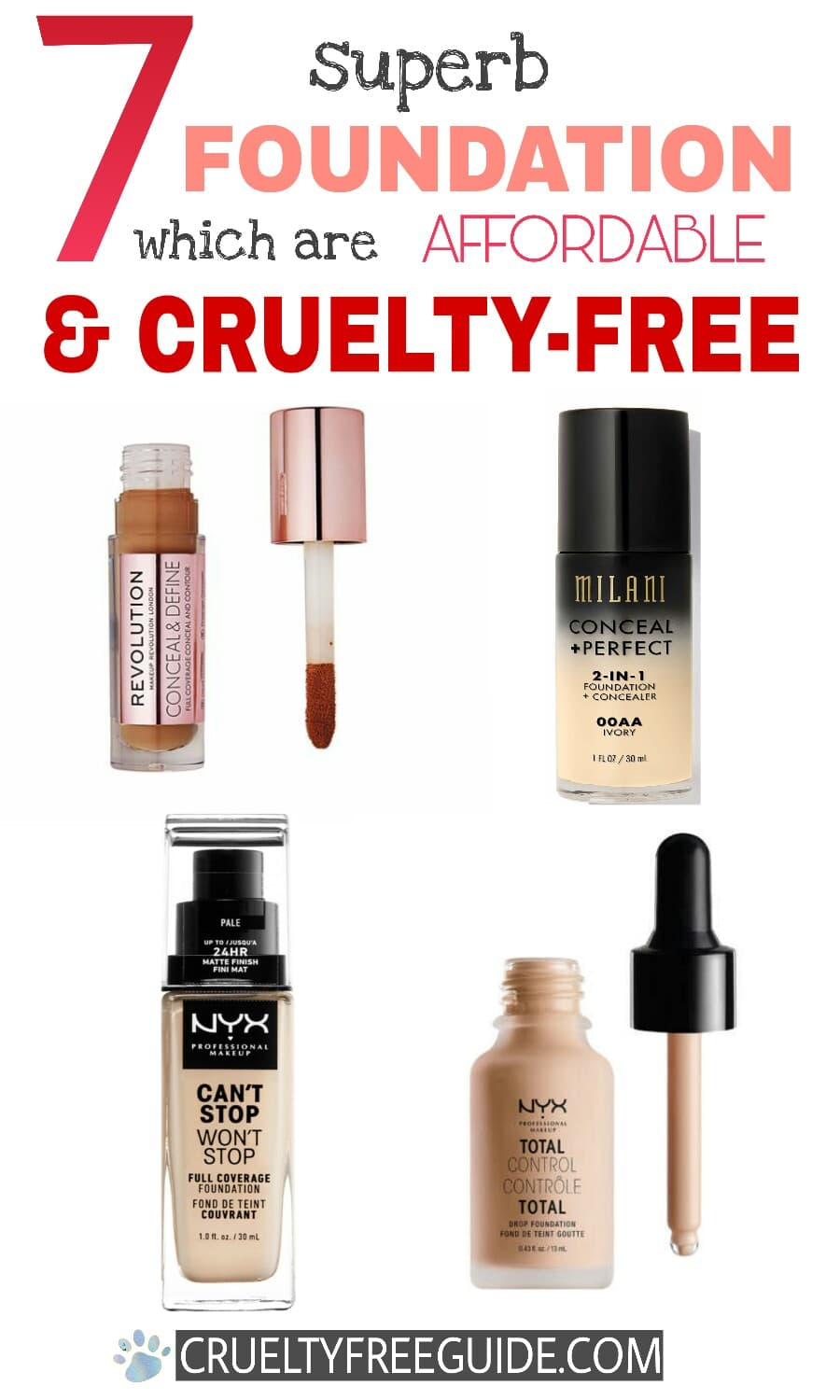 Cruelty Free Drugstore Foundation Affordable