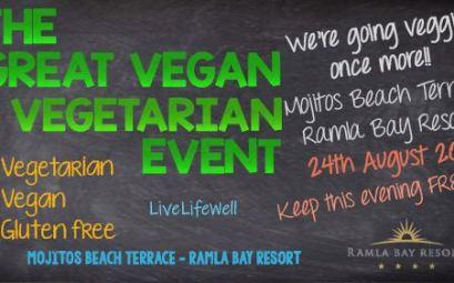The Great Vegan & Vegetarian Event at Mojitos Beach Terrace 2018