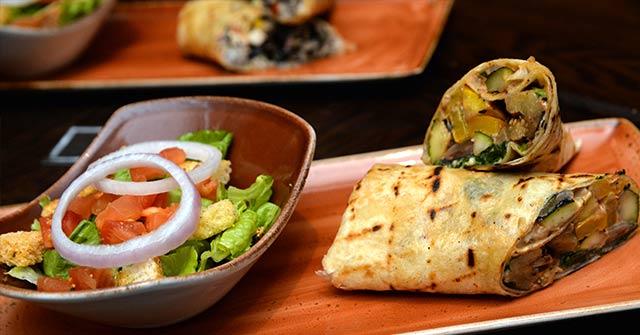 Grilled Ratatouille Wrap from Hard Rock Cafe Vegetarian Menu