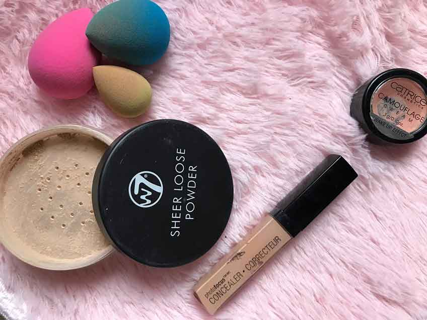 W7, Golden Rose, Catrice, Wet n Wild face products