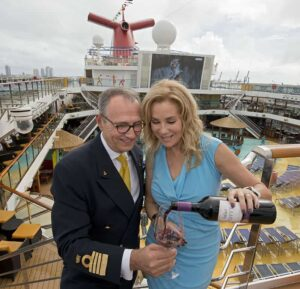 Captain Massimo Marino and Kathie Lee Gifford