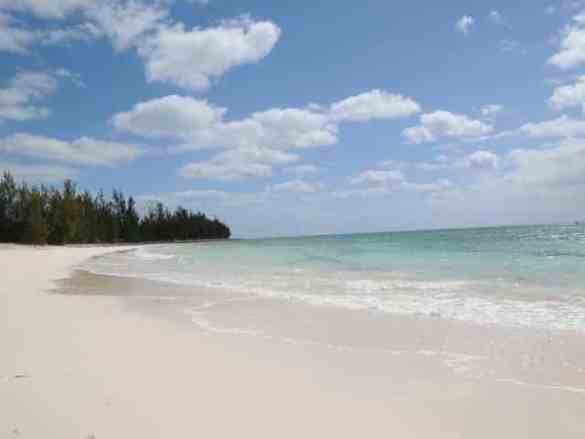 Large Beach area at the Bahamas Adventures Beach Club located in Freeport, Bahamas.