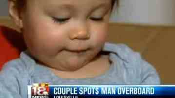 Man falls overboard and is saved by sleepless baby