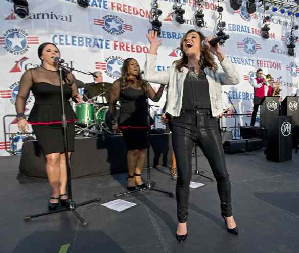 Country music artist Martina McBride aboard Carnival Freedom