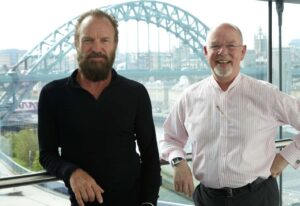 Sting and Anthony Sargent, general director Sage