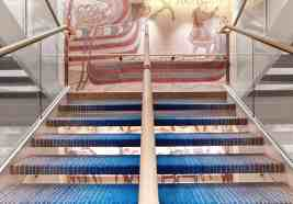 The main stairs aboard Viking Star