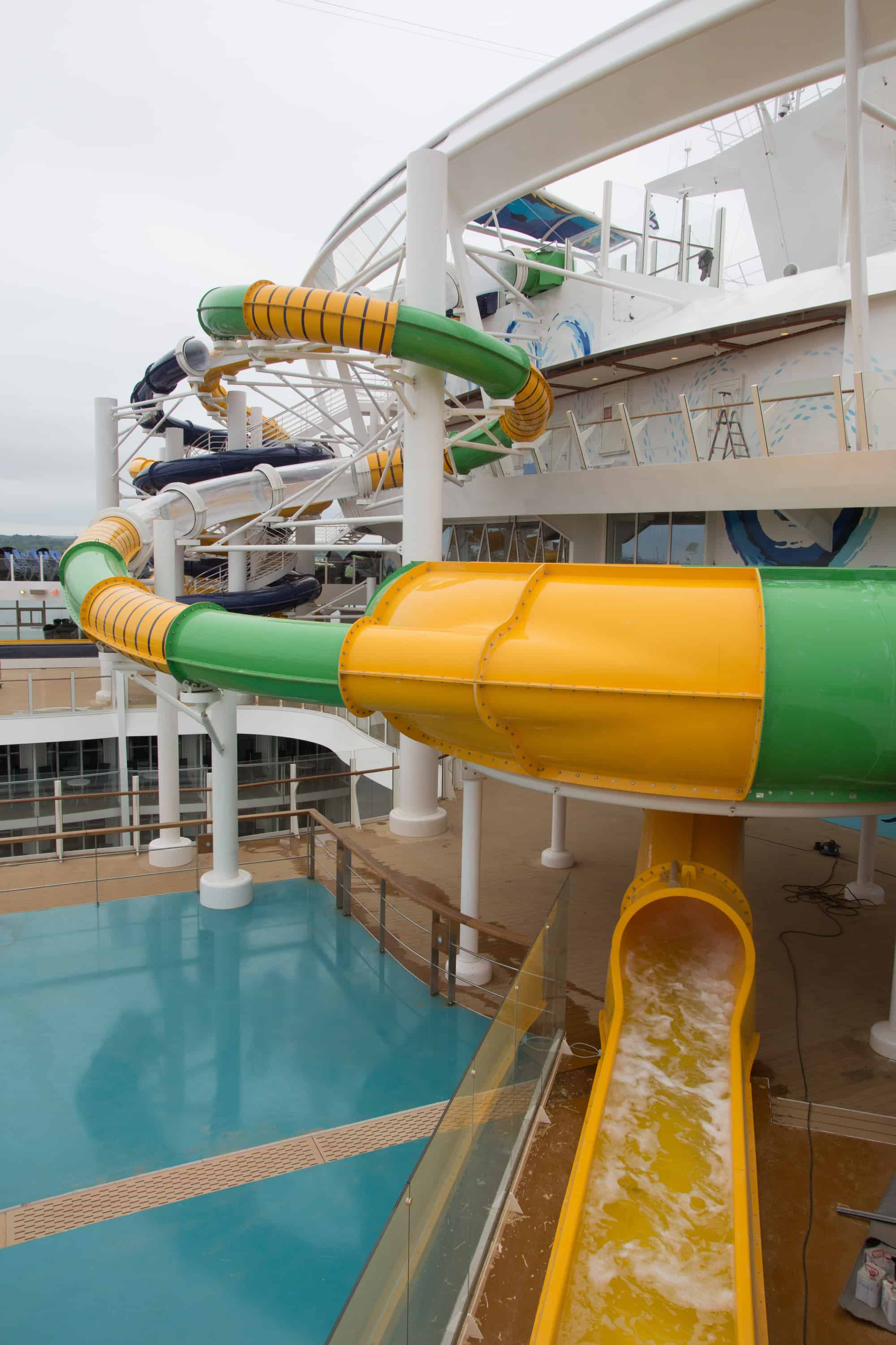 Royal Caribbean International's Harmony of the Seas, the world's largest and newest cruise ship, previews in Southampton, UK. General views of the ship.