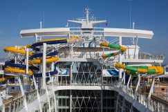 "Royal Caribbean International's Harmony of the Seas, the world""s largest and newest cruise ship, previews in Southampton. The Perfect Storm"