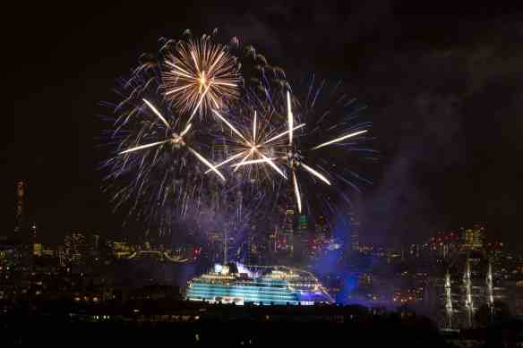 "Viking Cruises christens its second of six planned ocean ships in Greenwich"" in London, Britain May 5, 2016"