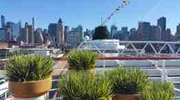 Look AFT from aboard Viking Star in New York City.