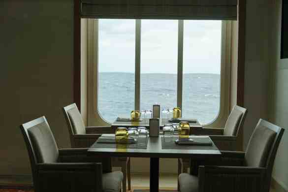 Wonderful view from your dinner table.