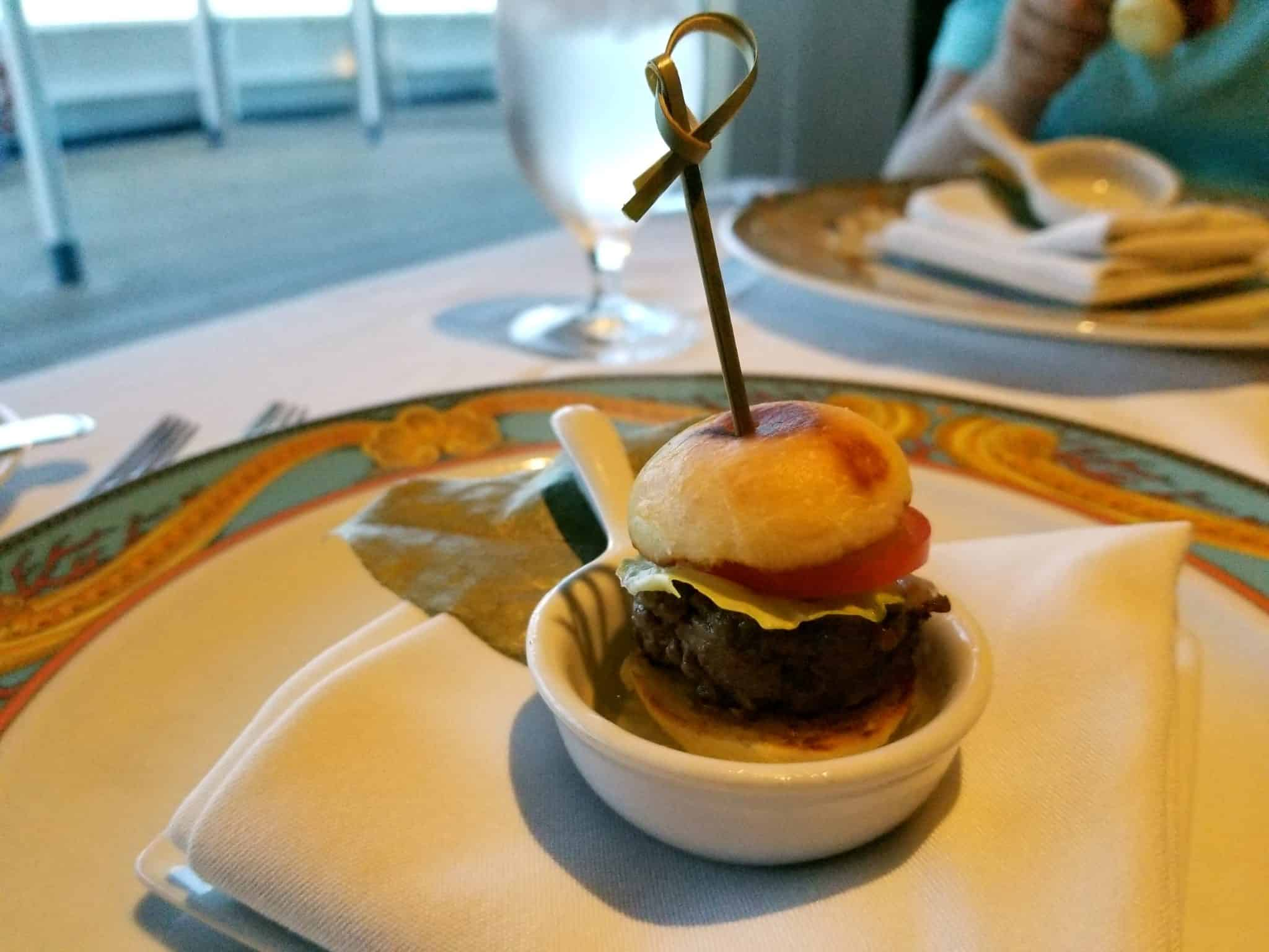 A treat from the Chef, Wagyu Beef Burger