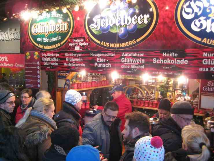 The gluhwein flows freely at the markets.