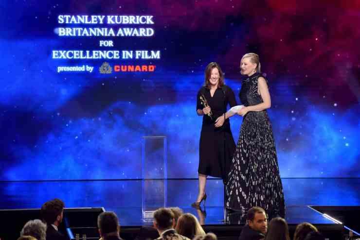 Cate BlanchettwasawardedtheStanley Kubrick Britannia Award for Excellence