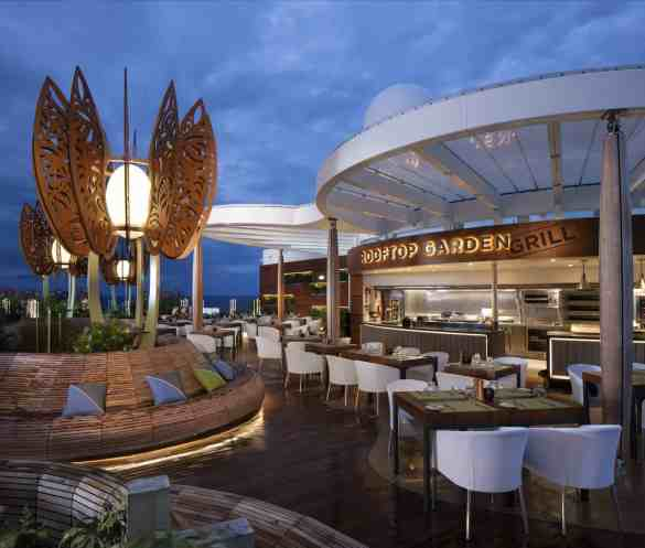 Rooftop Garden Grill - Deck 15 Aft Celebrity EDGE - Celebrity Cruises