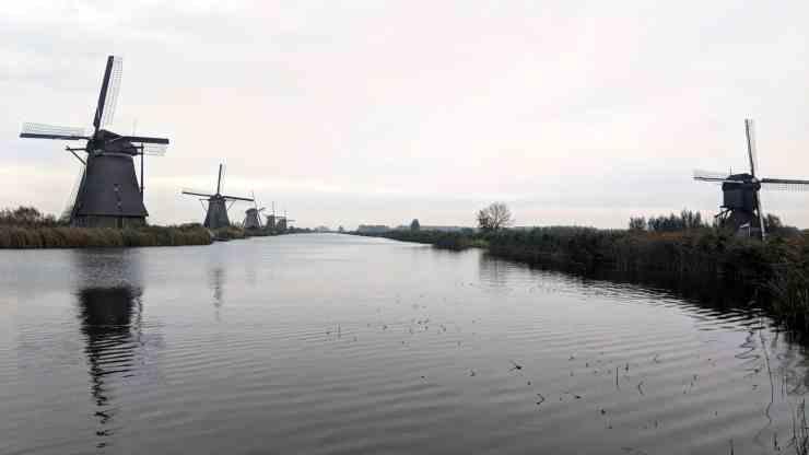The windmills at Kinderdijk, the Netherlands.