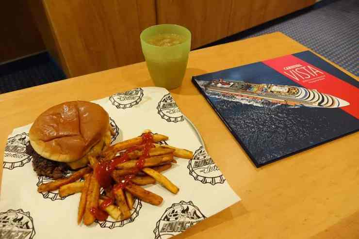 Guy's Burger Joint burger on Carnival Vista