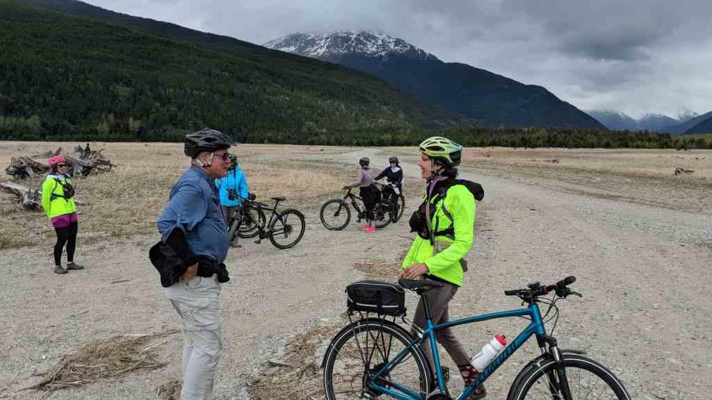 Biking in Skagway Alaska.